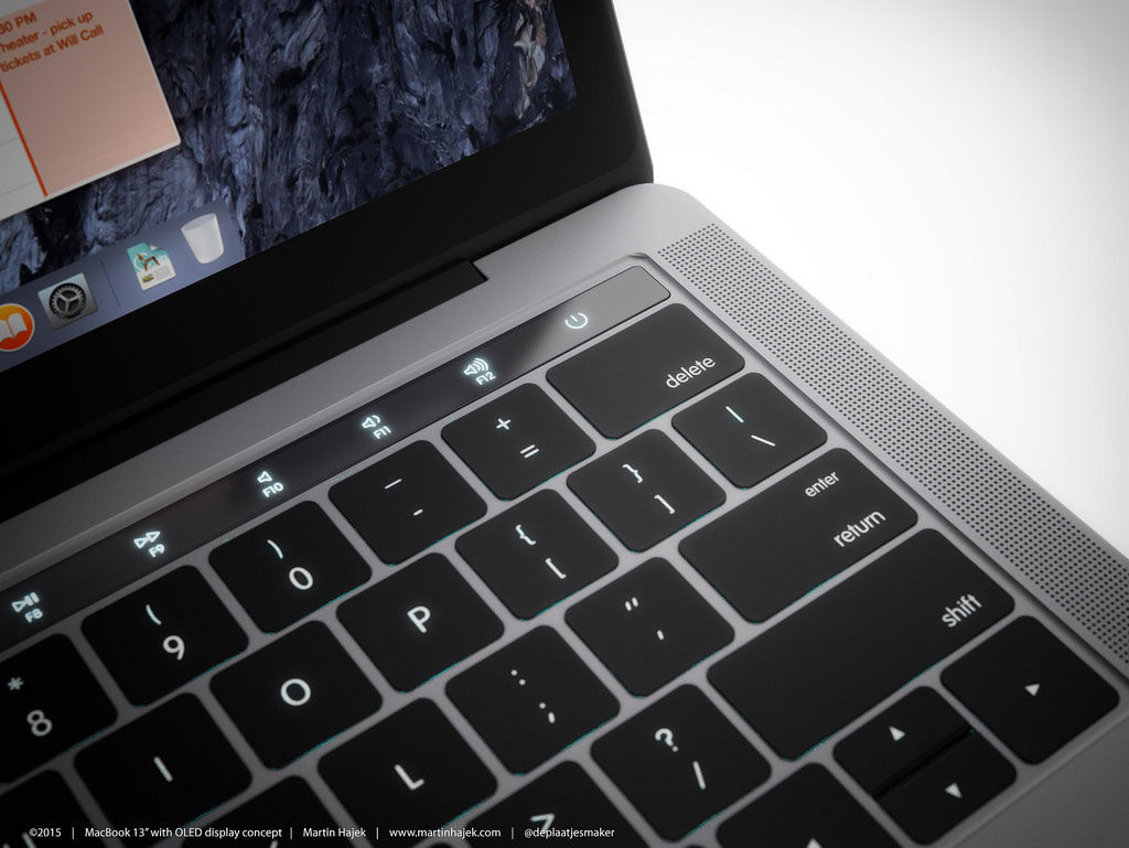 MacBook Pro 2016 to feature a second OLED touch screen for accessing an App's features