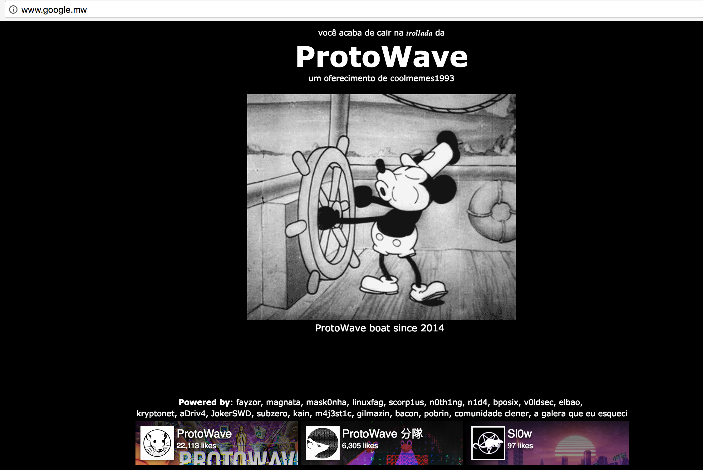 Google Malawi Hacked By ProtoWave