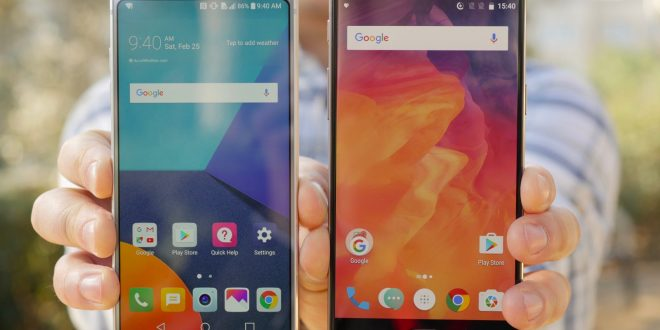 Find out the main differences between LG G6 and the OnePlus 3T