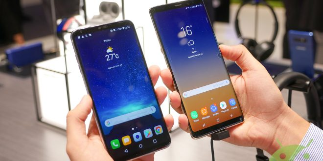 LG V30 and Samsung Galaxy Note 8 the smartphones with bezel-less display's